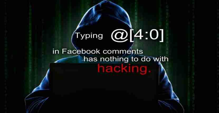 Facebook trick of typing @4:0 hack
