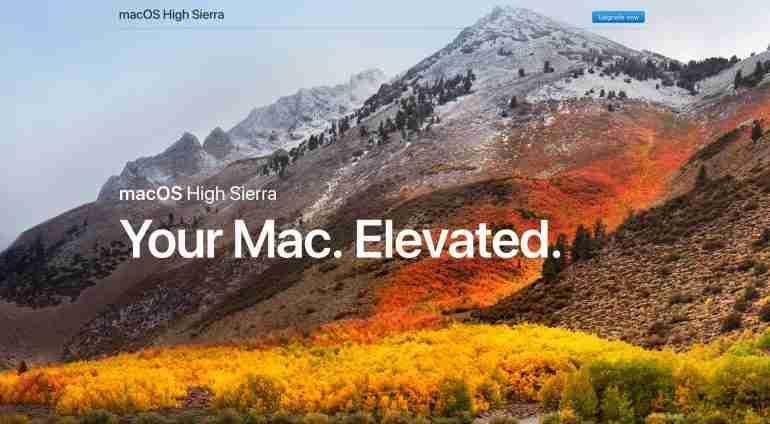 New Apple technology macOS High Sierra