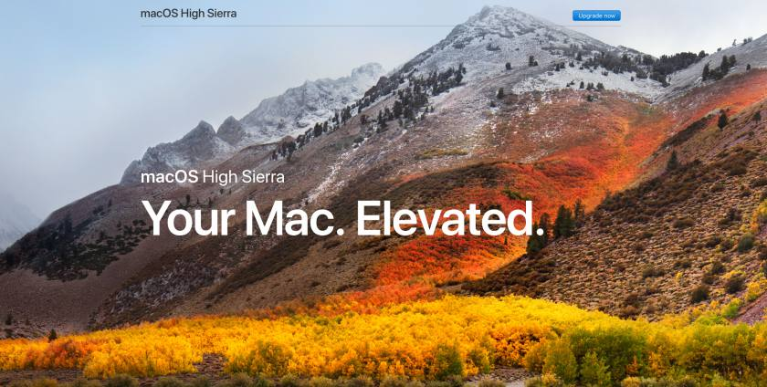 New Apple technology macOS High Sierra