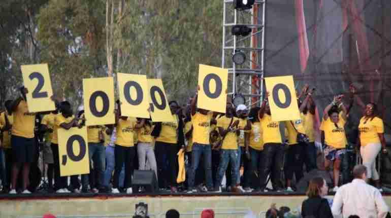 MTN Zambia celebrating 2 million mobile money subscriber