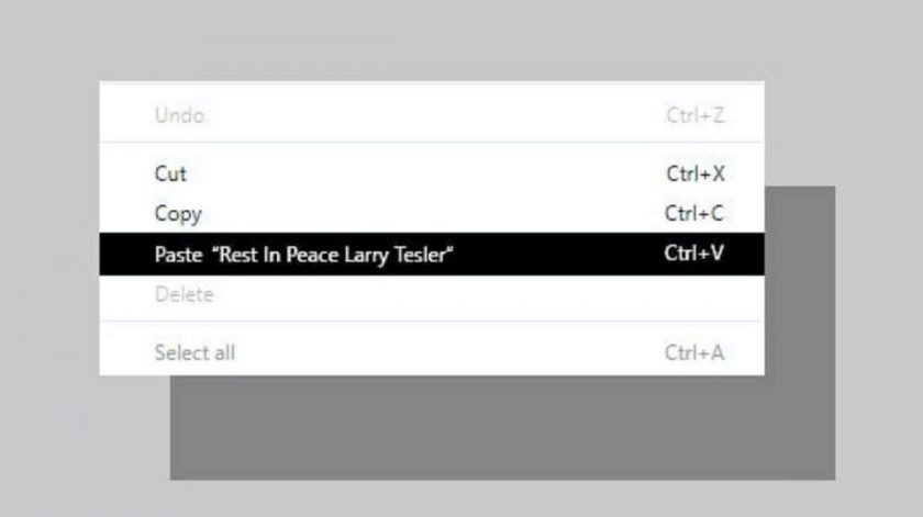 Rest in peace Larry Tesler who made the copy and paste