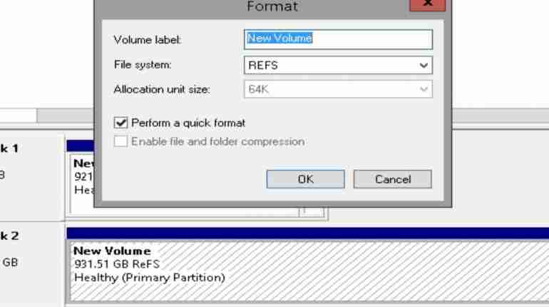 ReFS is a new Microsoft file system